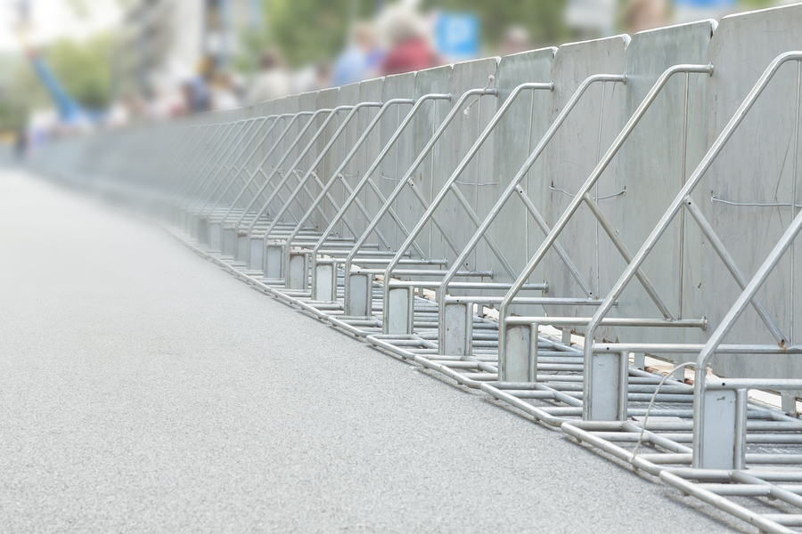Depend on Double K Construction to provide you with dependable and easy set up crowd control fencing